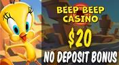 Beep_casino_NO_deposit_bonus_$20