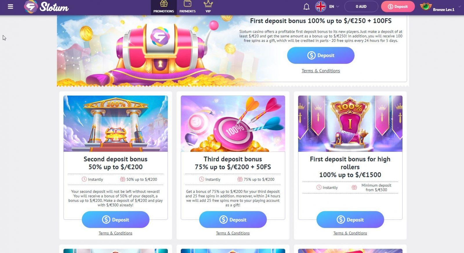 Slotum_casino_Welcome_Bonus_€200_100%